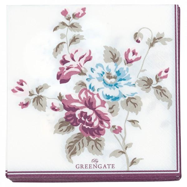 Greengate Papierservietten Maude white small 20 Stück
