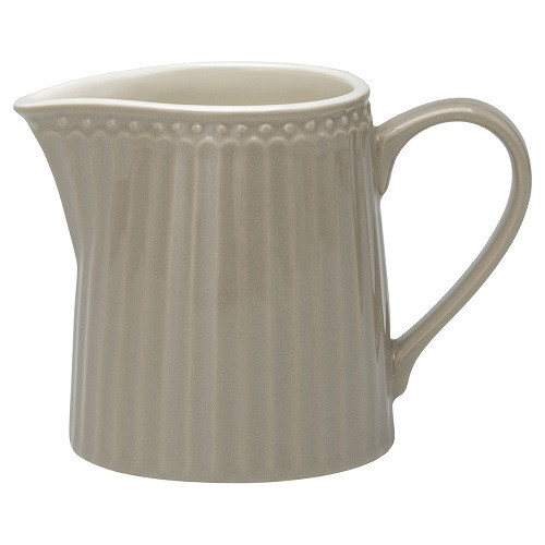 Greengate Porzellan-Milchkännchen Alice Warm Grey