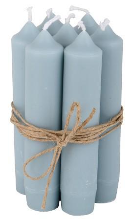 Ib Laursen Kerzen-10er Set, Hell-Blau