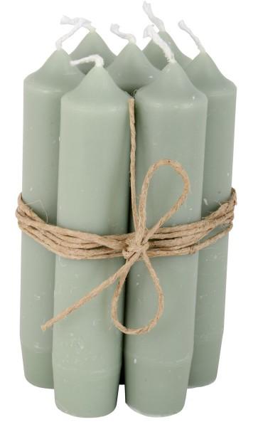 Ib Laursen Kerzen-10er Set, Graugrün