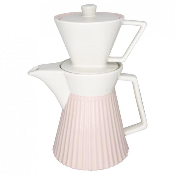 Greengate Kaffeekanne mit Filteraufsatz Alice pale pink