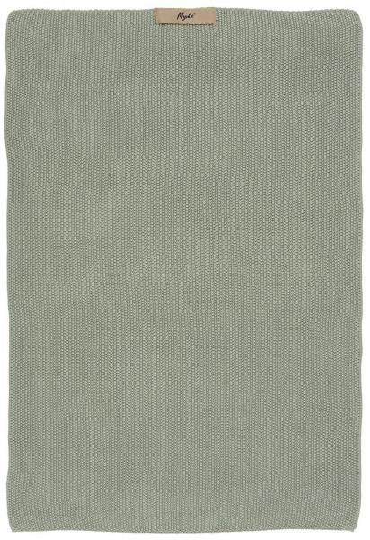 Ib Laursen Handtuch Mynte Staubig Grün gestrickt