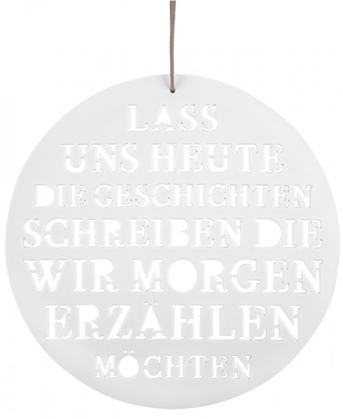 "räder Living Poesiebild aus Porzellan ""Lass uns heute..."""