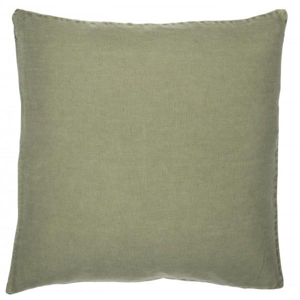 Ib Laursen Kissenbezug Olive 50 x 50 Leinen