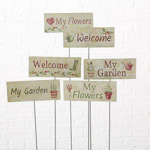 "Gartenstecker ""Spring""  6 versch. Varianten"