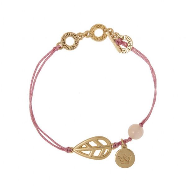 Sence Copenhagen Armband Leaf bracelet Mother of Pearl worn gold