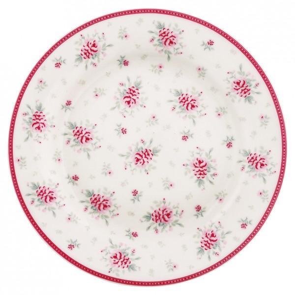 Greengate Porzellan-Teller Flora White