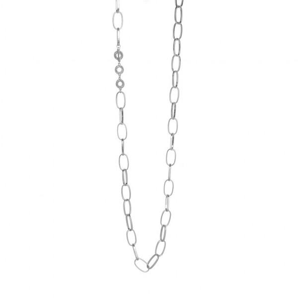 Sence Copenhagen necklace worn silver, 96 cm