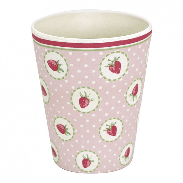 Greengate Bambusbecher Strawberry pale pink
