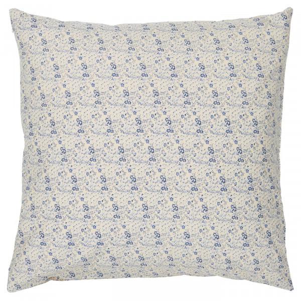 Ib Laursen Kissenbezug Beige mit blauen Blümchen
