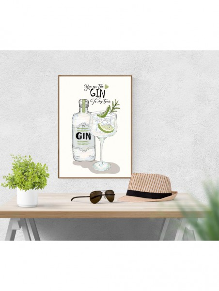 "Mouse and Pen Poster ""You Are My Gin"" A4"
