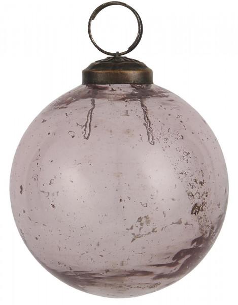 Ib Laursen Weihnachtskugel Peppled Glas Rosa