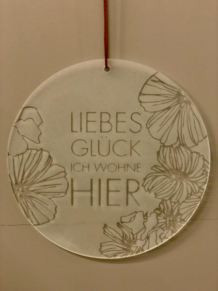 """räder Zuhause Glaspoesie """"Liebes Glück..."""""""