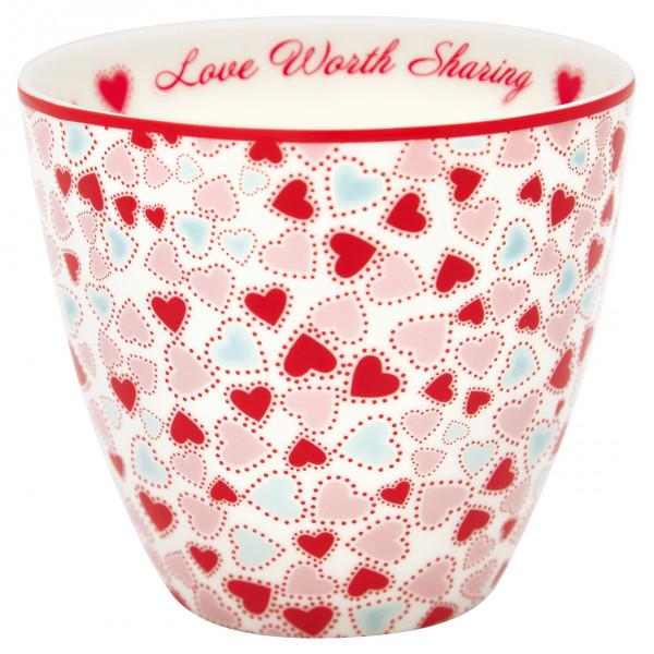 Greengate Latte Cup Love White