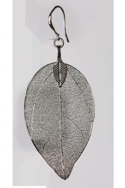 Blumenkind Blatt-Anhänger Rhodium silberfarben, medium