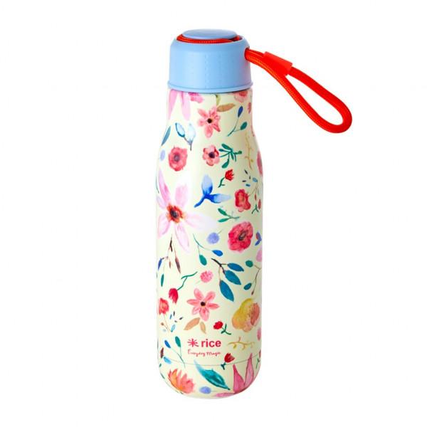 Rice Trinkflasche Edelstahl Selmas Flower Print 0,5l