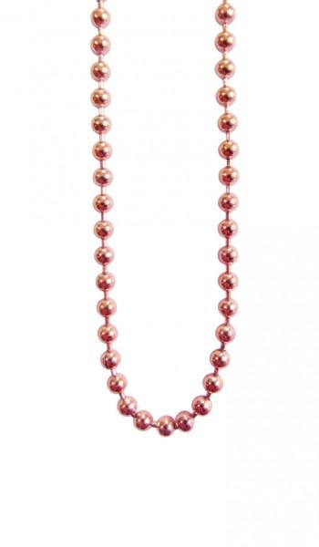 Blumenkind Kugelkette Edelstahl, rosé-gold