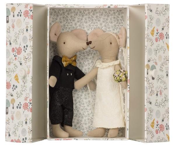 Maileg Mäuse Hochzeitspaar in Geschenkbox