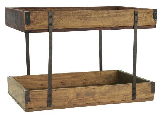 Ib Laursen Holz-Tablett Unika 2-stufig