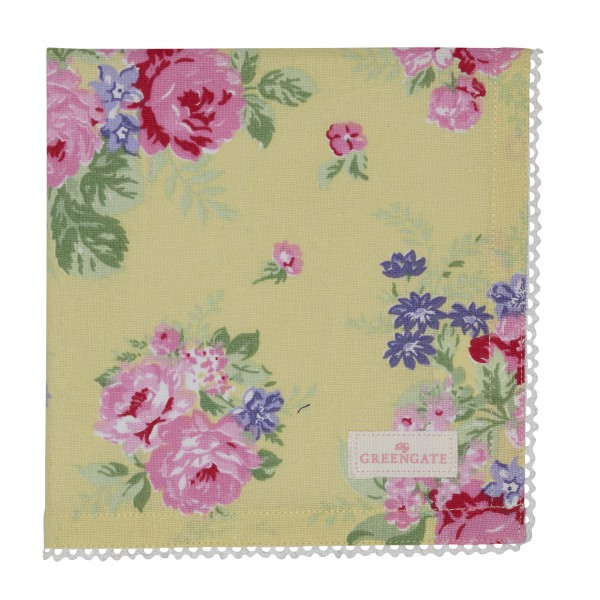 Greengate Stoffserviette Rose Pale Yellow Sonderedition 2019