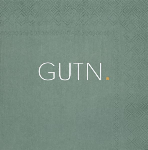 """räder Papierservietten """"GUTN""""  Grün 20 Stück"""