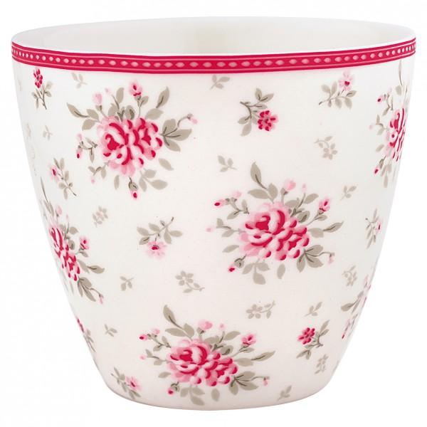 Greengate Latte Cup Flora White