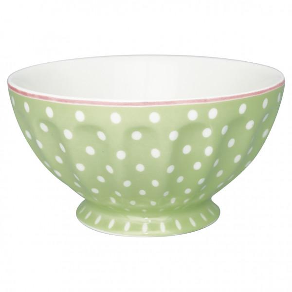 Greengate French Bowl XL Spot pale green