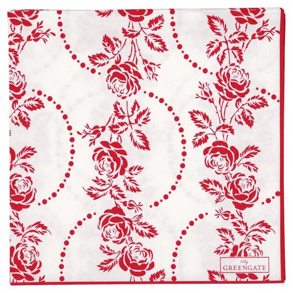 Greengate Papierservietten Fleur red large  20 Stück