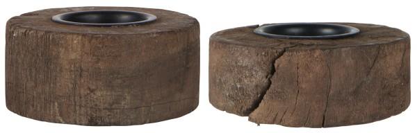 Ib Laursen Teelichthalter Unika Holz, 1 Stück