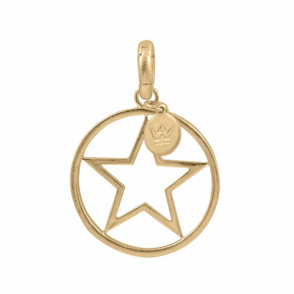 Sence Copenhagen Charm circle star worn gold