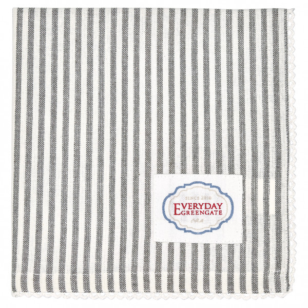 Greengate Stoffserviette Alice Stripe grey