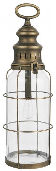 Ib Laursen LED-Laterne Messing H 42 cm