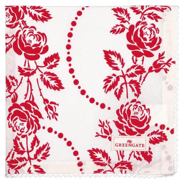 Greengate Stoffserviette Fleur red