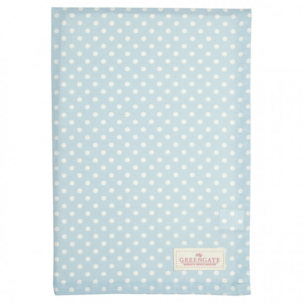 Greengate Geschirrtuch Spot pale blue