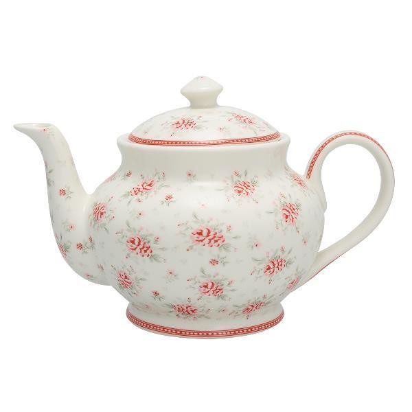 Greengate Teekanne Flora white Limited Edition