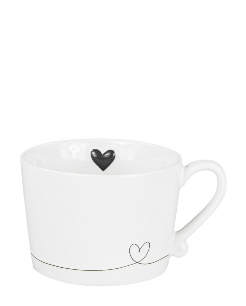Bastion Collections Tasse Line Heart Black