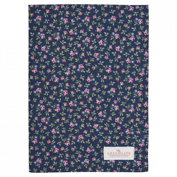 Greengate Geschirrtuch Berta dark blue
