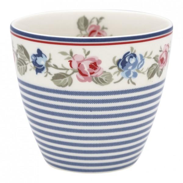 Greengate Latte Cup Hailey stripe white