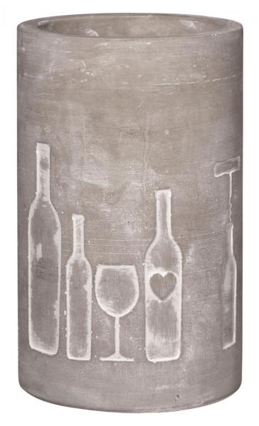 """räder Beton Flaschenkühler """"Flasche und Glas"""""""