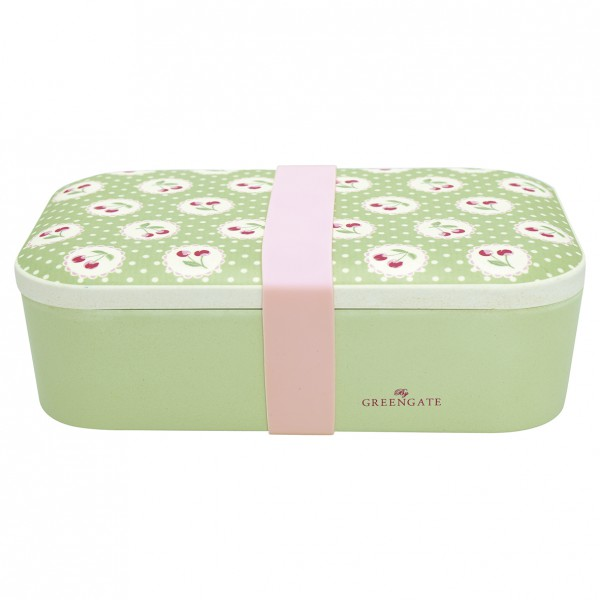 Greengate Lunch Box Cherry Berry pale green