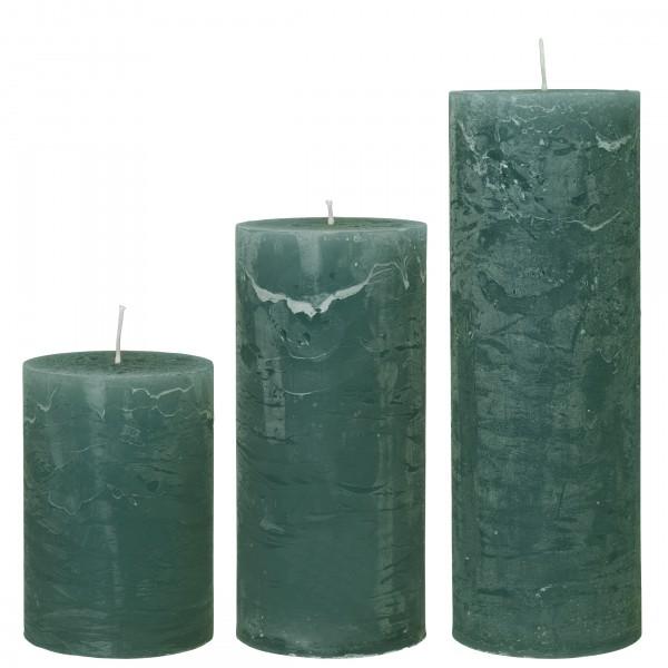 Cozy Living Stumpen-Kerze Olive H: 15cm