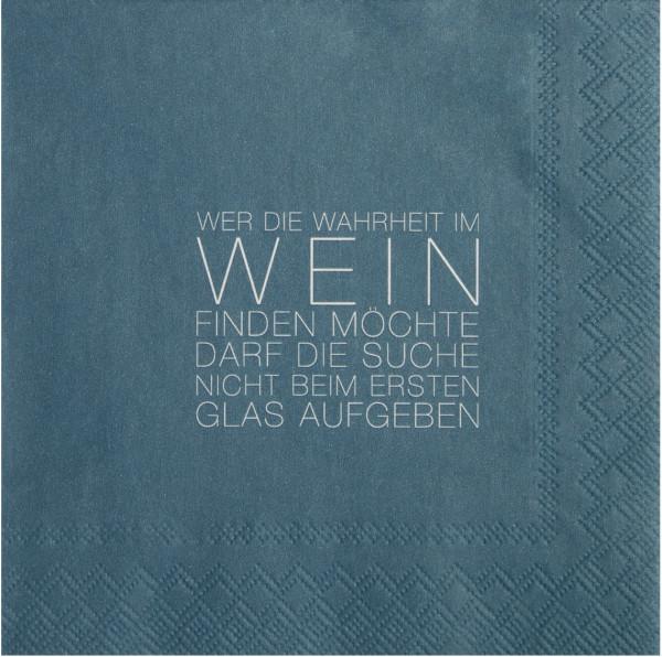 """räder Papierservietten Dining """"Wahrheit im Wein...""""  20 Stück"""