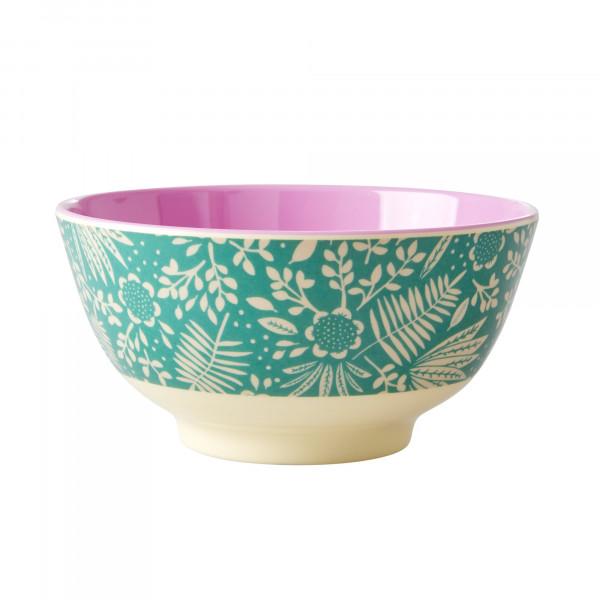 Rice Melamin Schüssel Farn und Blumen Print gross