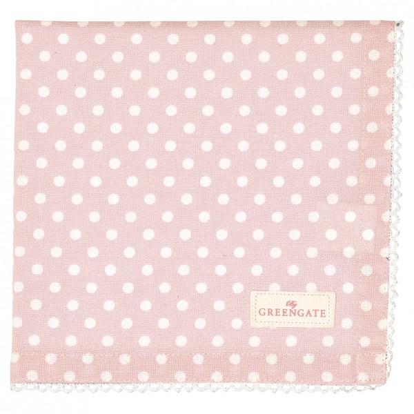 Greengate Stoffserviette Spot pale pink