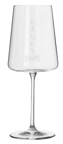 "räder Weinglas Vino Apero ""Läuft"""