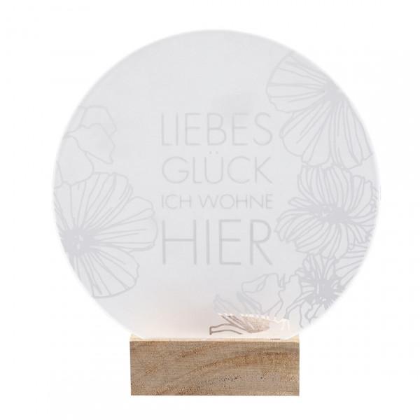 """räder Zuhause Glaspoesie Teelicht """"Liebes Glück..."""""""