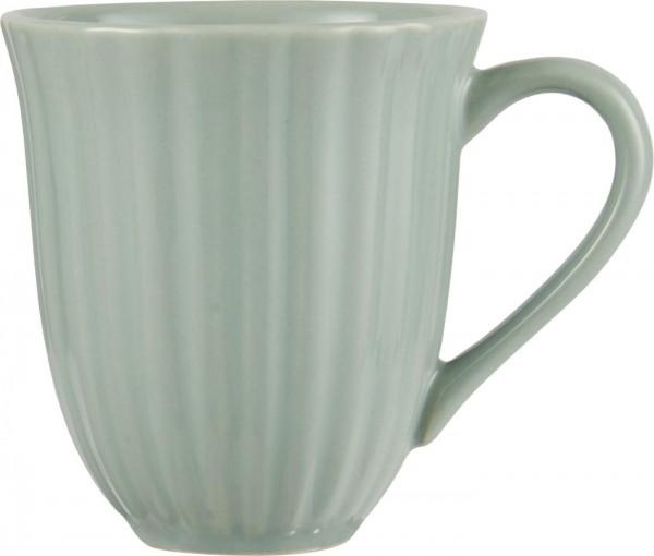 Ib Laursen Henkelbecher mit Rillen Mynte Green Tea