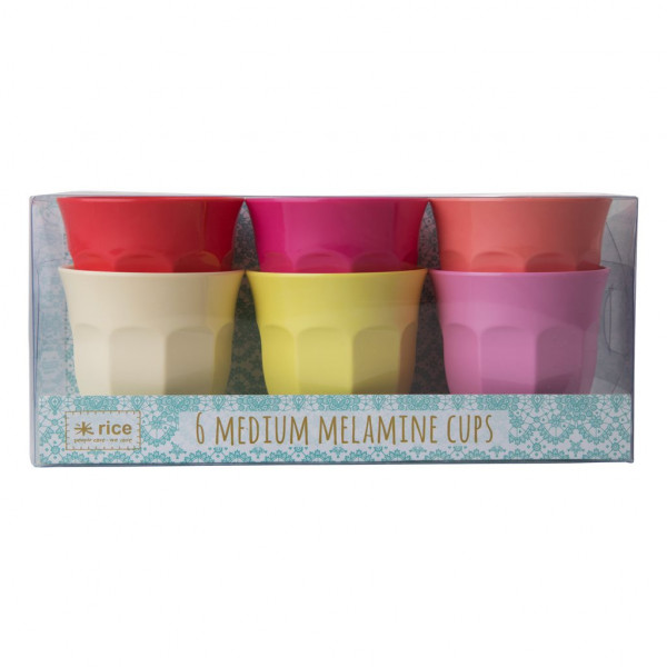 Rice Melamin Becher 6er Set Sunny Colors