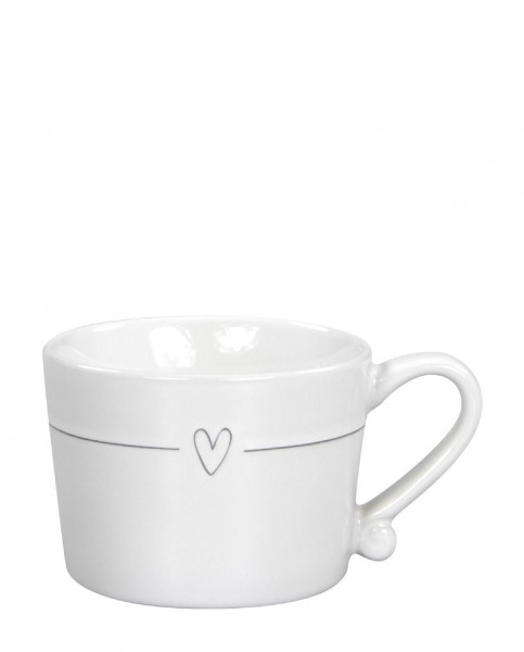 Bastion Collections Tasse Line Heart Grey small