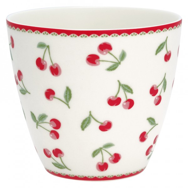 Greengate Latte Cup Cherry white